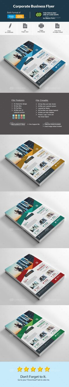 Five Corporate Business Flyer  Corporate Business Business And