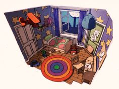 Hihi's room - Concept artwork | by Patrick Romano