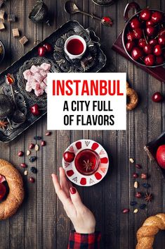 The city of Istanbul Turkey is one that every food traveler should visit. You will be drawn into all the wonderful markets displaying all the local spices as well as spices from around the world. Stop in the sidewalk cafes for Turkey teas and languish in a long Turkish dinner. #VisitTurkey #FoodTravel #Istanbul