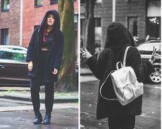 Joy B - Primark Black Teddy Coat, Primark Holographic Backpack - Incognito