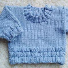 Mavi örgü bebek kazak modelleri