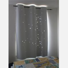 X-LARGE - LIBRA constellation. Best Kids Product of Toddler nap curtain. Size: up to or make your own with Roclon fabric and star shaped die-cuts. Ikea Curtains, Drop Cloth Curtains, Floral Curtains, White Curtains, Hanging Curtains, Kitchen Curtains, Patterned Curtains, Short Curtains, Ideas