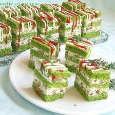 Finger Food Appetizers, Finger Foods, Appetizer Recipes, Sandwich Cake, Sandwiches, Cubes, My Favorite Food, Favorite Recipes, Unique Recipes