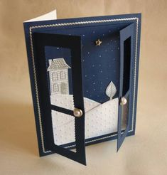 Good Neighbours Snow Scene Window by Teglow - Cards and Paper Crafts at Splitcoaststampers