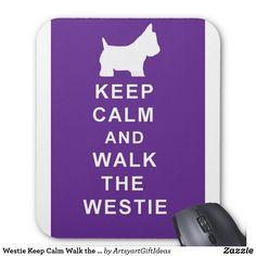 Westie houdt Kalme Gang de mousepad verjaardag Muismat
