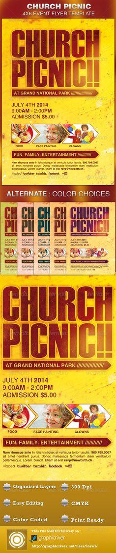 Church Picnic Flyer Template Church picnic, Gospel concert and - fun poster templates