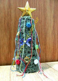 Arbolito de navidad a crochet