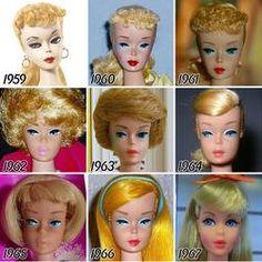Evoluția păpuși Barbie de la începutul și până în prezent