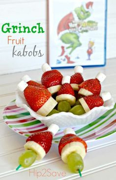 Pocket : Grinch Fruit Kabobs (Easy Holiday Snack) – Hip2Save