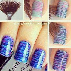 Paint brush nail art