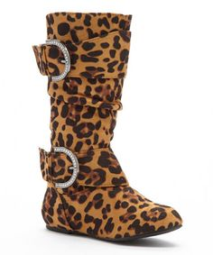 $16.99 Another great find on #zulily! Leopard Buckle Bella Boot #zulilyfinds