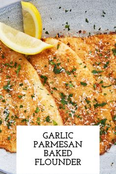 We can never say no when it comes to garlic and Parmesan. This easy flounder recipe uses a little bit of bread crumbs but mostly Parmesan and we couldn't be happier with the results. The flounder bakes up nice and tender with the perfect amount of crunch. Baked Flounder, Flounder Recipes, Seafood Recipes, Cooking Recipes, Healthy Recipes, Grouper Recipes, Red Snapper Recipes, Catfish Recipes, Seafood