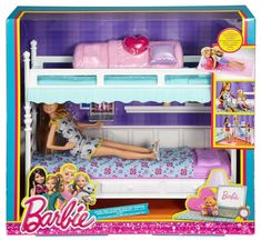 Check out the Barbie® Sisters Bunk Beds & Stacie® Doll at the official Barbie website. Explore the world of Barbie now! Barbie Doll Set, Doll Clothes Barbie, Barbie Doll House, Barbie Toys, Barbie Dream House, Mattel Dolls, Barbie Stuff, Accessoires Barbie, Barbie Playsets