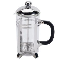 "Designed to capture concentrated flavors and prepare coffee in its ""purest"" form, the french press is an essential kitchen item for those seeking to deliver an authentic, flavorful experience for guests and customers. With the innovative device, the coffee's natural oils wash away easily and leave no residue in the pitcher, unlike most automatic brewers. This 33 oz. french coffee press brings all those benefits to your dining operation and more, thanks to a stainless steel frame and…"