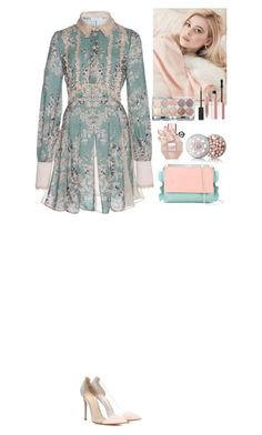 """""""Outfit"""" by eliza-redkina ❤ liked on Polyvore featuring Zuhair Murad, Gianvito Rossi, Guerlain, Burberry, Too Faced Cosmetics, claire's, Manurina, outfit, like and look"""