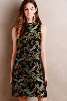 Shangri-La Jacquard Swing Dress #anthropologie