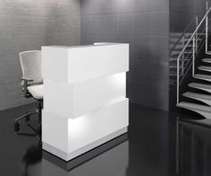 This modern white desk is compact, functional and stylish. The Zeo will compliment any modern reception. Curved Reception Desk, Reception Desk Design, Reception Counter, Reception Desks, Reception Areas, Modern White Desk, Contemporary Desk, Bureau Design, Receptionist Desk