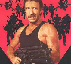 Behind Chuck Norris's mustache is another fist