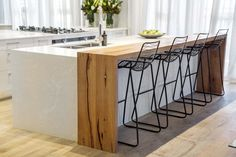 The Block Kitchen Reveals: Perfect Scores and Style Snores The Block Kitchen, Green Kitchen, Open Plan Kitchen, Kitchen Layout, Home Decor Kitchen, Kitchen Living, Kitchen Interior, Home Kitchens, Kitchen Island Bench