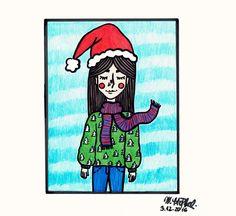 IG: @maggie_creates_ christmas drawing