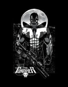 The Punisher cool art as full moon becomes part of Punisher skull logo. The Punisher, Punisher Comics, Punisher Skull, Marvel Comics Superheroes, Marvel Heroes, Marvel Avengers, Comic Book Characters, Comic Book Heroes, Frank Castle Punisher