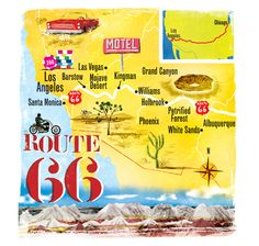 Scott Jessop, Route 66 map