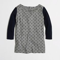 Factory dotted baseball tee - Knits & Tees - FactoryWomen's New Arrivals - J.Crew Factory