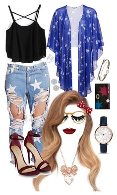 """""""you & i were fireworks"""" by v3n0m on Polyvore featuring Moscot, Boohoo, One Teaspoon, Gina Bacconi, Anastasia Beverly Hills, FOSSIL, Roger Vivier and Tai"""