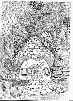 Efie Goes Zentangle Art Tangle Club 95 Herfst