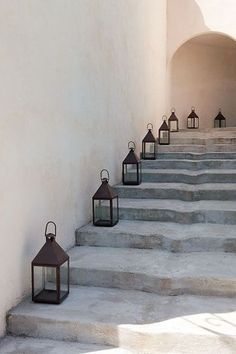 lanterns on steps