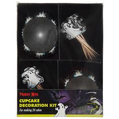 Halloween Ghost Cupcake Decoration Kit | Poundland Halloween Goodies, Halloween Ghosts, Ghost Cupcakes, Kit, Decoration, How To Make, House, Ideas, Decorating