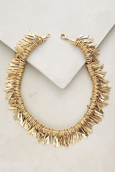 Leo Fringe Necklace #anthropologie