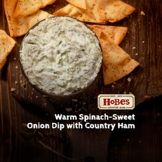 Warm Spinach-Sweet Onion Dip with Country Ham Country Ham, Onion Dip, Spinach Dip, Ham Recipes, July 4th, Punch, Breakfast Recipes, Dips, Easy Meals