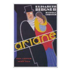 #stylish - #Ariane; Stylish Art Deco Vintage Poster