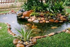 Beautiful island and pond Outdoor Ponds, Ponds Backyard, Outdoor Gardens, Ponds For Small Gardens, Small Ponds, Pond Design, Garden Landscape Design, Pond Landscaping, Landscaping With Rocks