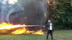 Flame throwers, given up by the military, are now being sold to the public