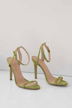 KACHOROVSKA / light green hight heel sandals / individual order in Kachorovska Atelier (hand made shoes and accessories) Green Sandals, Green Heels, High Heels, Shoes Heels, Swag Shoes, Cute Heels, Sneaker Heels, Fashion Heels, Dream Shoes
