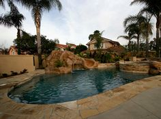 pool, jacuzzi, rock water slide, landscaping  built by Blue Pacific Pools check out our website for more! http://www.bluepacificpools.com/index.html