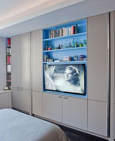 bedroom Wardrobe With TV - Clever Wardrobe Design Ideas For OutOfTheBox Bedrooms