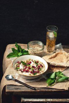 Baba Ghanoush Bowls with Pomegranate, Mint, & Mozzarella | The Gouda Life