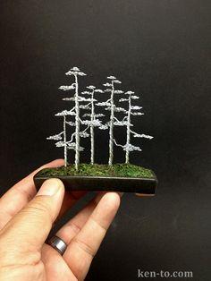 A wire bonsai tree forest by Ken To by KenToArt on deviantART