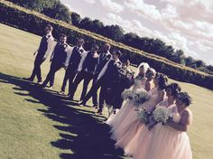 Bridesmaids and groomsmen #wedderburncastle #scottishcastle #wedding #wedderburnbarns