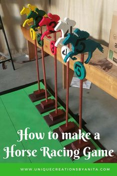How to make a indoors or outdoors horse racing game. This is a great activity for the elderly and young alike. Horse Racing Party, Horse Race Game, Horse Games, Horse Party, Derby Horse Race, Games For Elderly, Elderly Activities, Elderly Crafts, Senior Activities