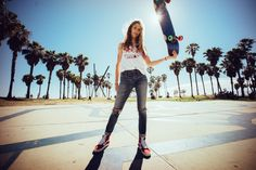 Sierra Prescott | Photographer, Skateboarder | Photographed in Los Angeles by Sebastian Kim | #skateboarding #skateboard #skateboader #skater