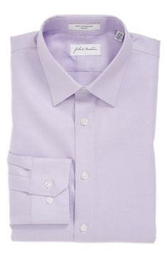 John W. Nordstrom® Trim Fit Non-Iron Solid Dress Shirt available at #Nordstrom