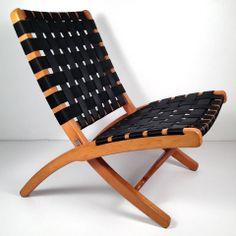 My House is My Home | Vintage Mid Century Danish Modern Folding Lounge Chair - Hans Wegner Style Rope