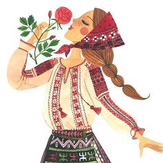 The art work of Romanian artist Oana Befort. Character Art, Character Design, Guache, Cartoon Art, Cute Drawings, Creative Art, Art Girl, Flower Art, Watercolor Art