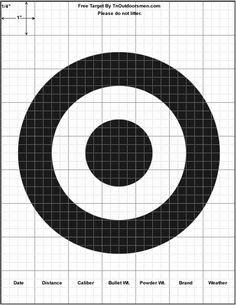 Free Targets Printable Shooting Rifle Pistol Shotgun Archery Range Bull's Eye