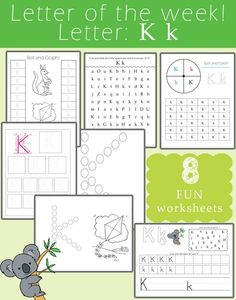 [vc_row][vc_column you busy teaching your toddler / preschooler the letters of the alphabet? Make sure you add these fun worksheets to your curriculum! These worksheets not only help teach the letters of the alphabet but they also have focuses on: . Letter K Preschool, Letter B Activities, Preschool Prep, Preschool Learning Activities, Preschool Lessons, Kids Learning, Preschool Ideas, Montessori, Fun Worksheets