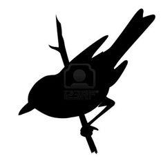 vector vogel silhouet op een witte achtergrond, vector illustratie Stockfoto - 11349864